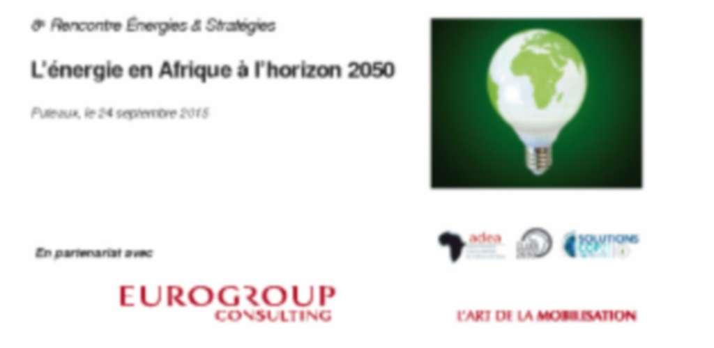 Energie à horizon 2050